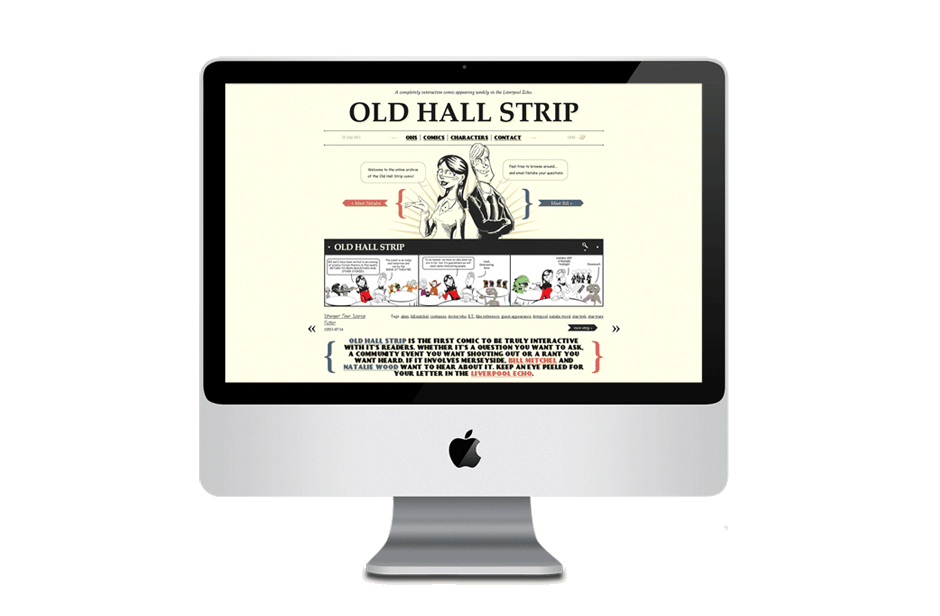 Old Hall Strip - Web Design
