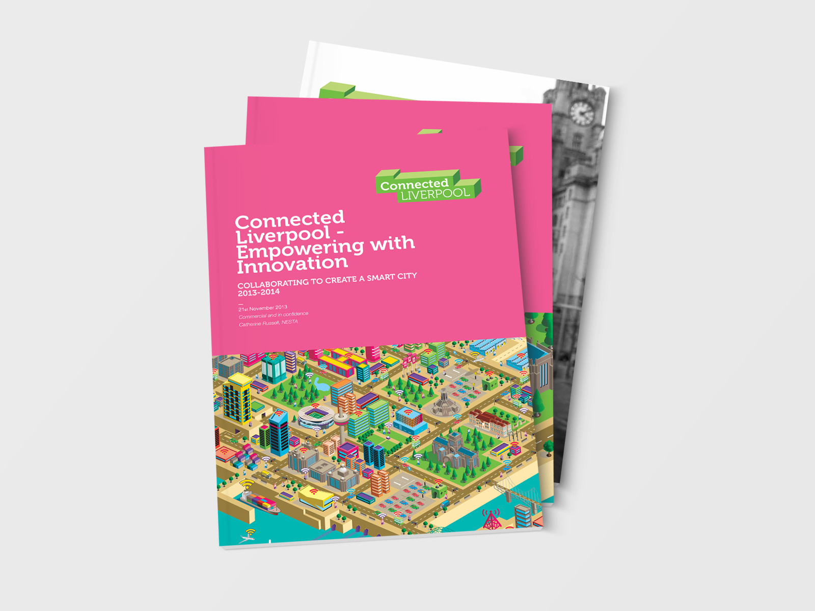 Corporate Brochure design for Connected Liverpool