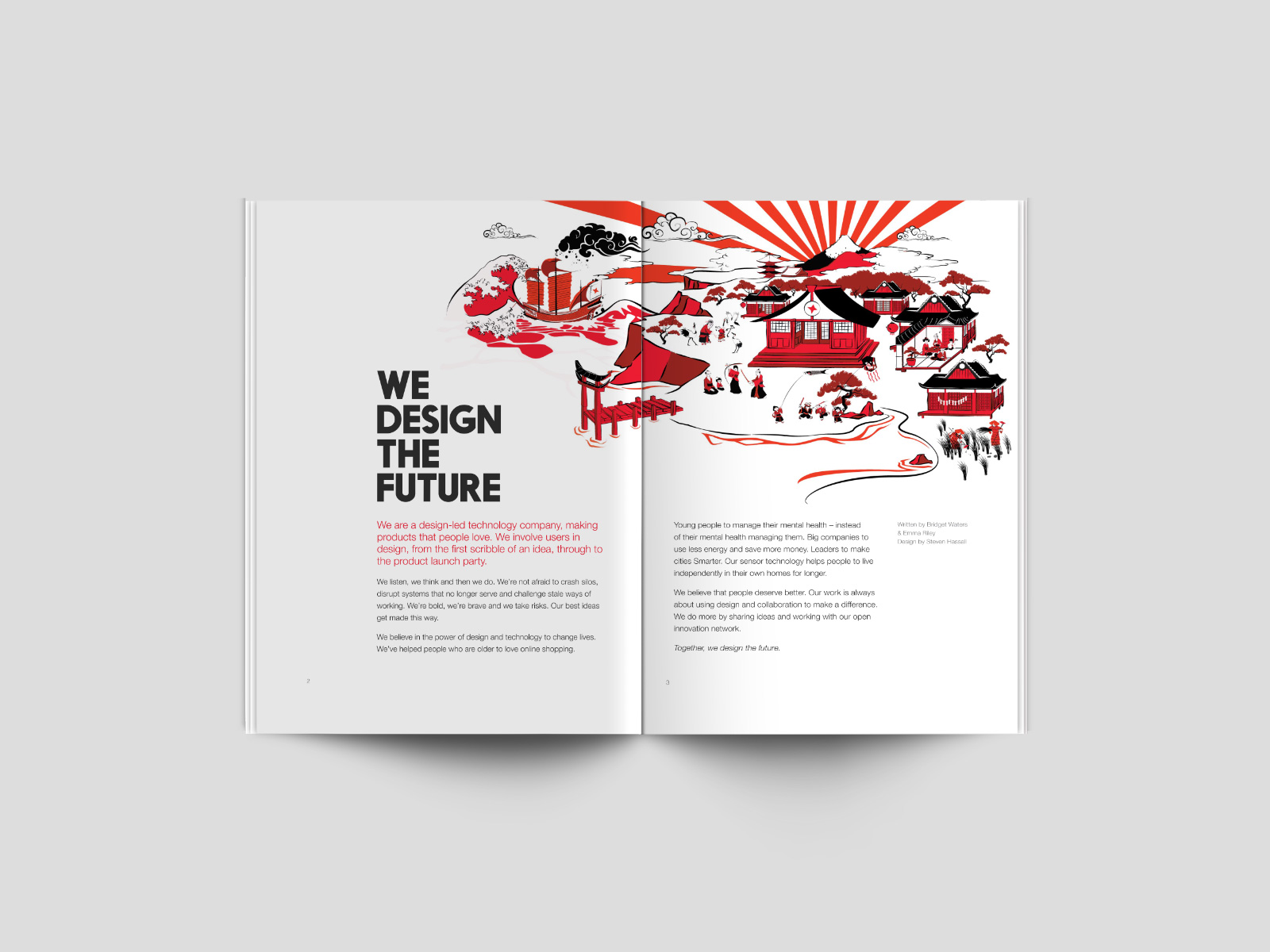 Promotional magazine design for tech start-up