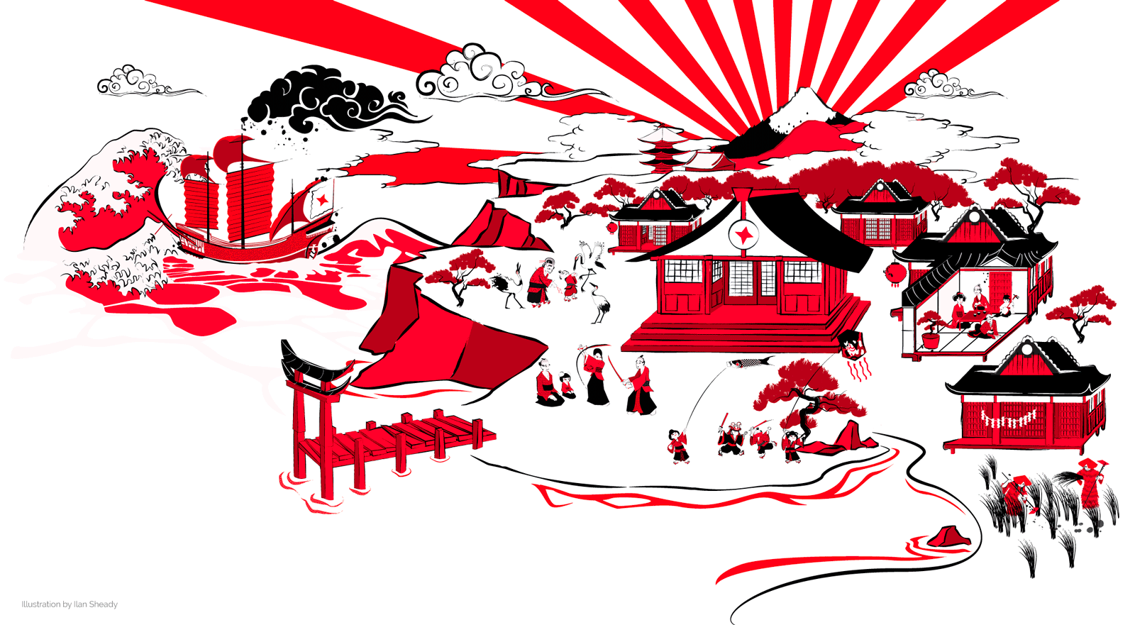 Japanese tapestry of values