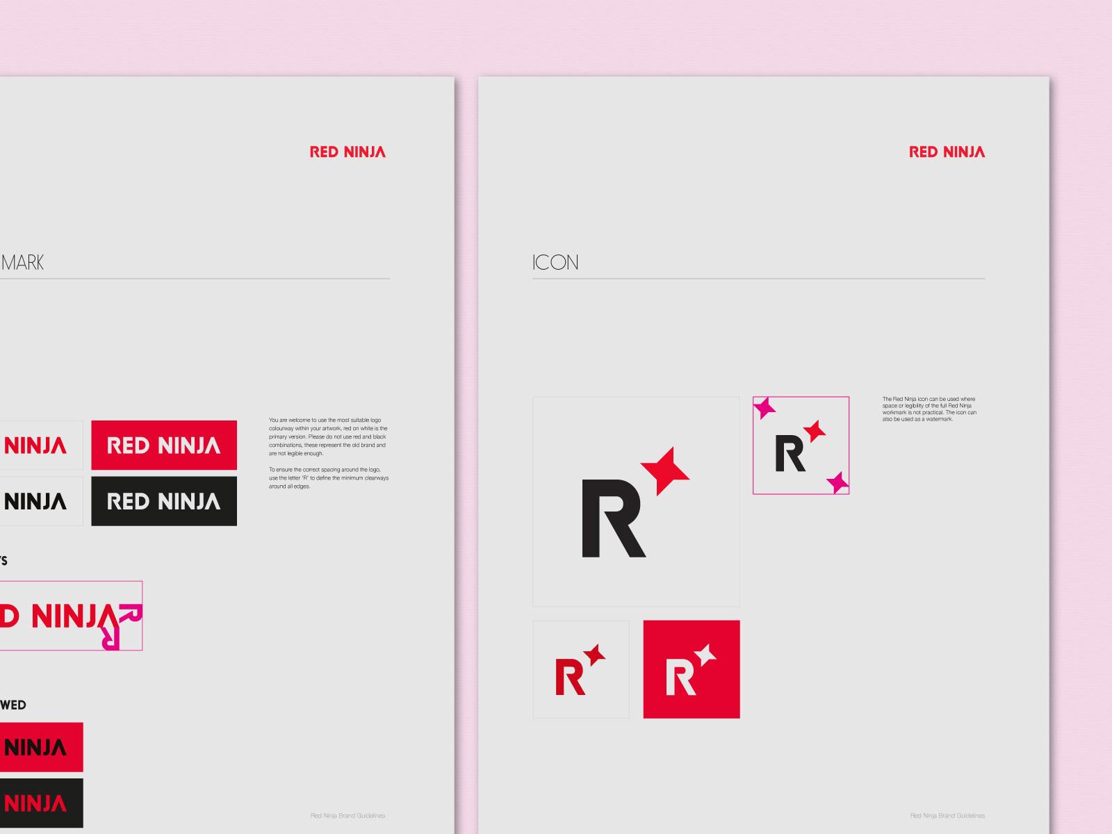 Red Ninja Brand Guidelines for logo