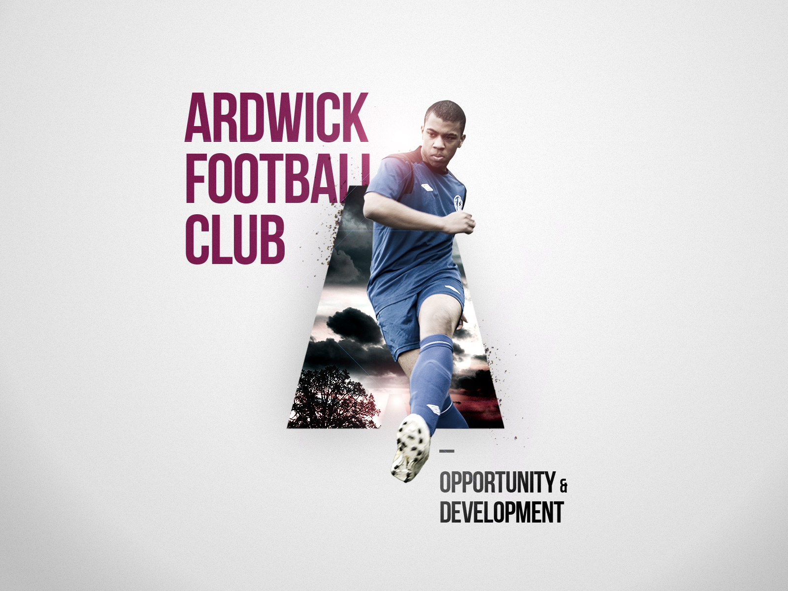 Football club campaign artwork