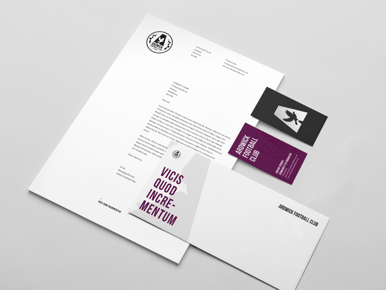 Football club stationary design